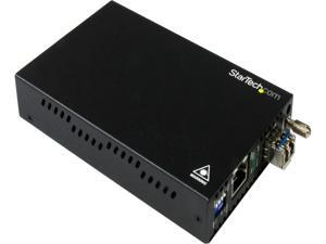 StarTech.com Gigabit Ethernet Copper-to-Fiber Media Converter - SM LC - 20 km - Ethernet Media Converter - GbE Converter
