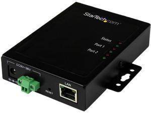 STARTECH NETRS2322P 2-Port Serial-to-IP Ethernet Device Server - RS232 - Metal and Mountable