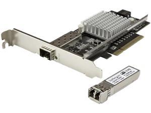 StarTech PEX10000SRI 10G Network Card - 1 x 10G Open SFP+ Multimode LC Fiber Connector - Intel 82599 Chip - Gigabit Ethernet Card