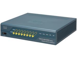 Cisco ASA5505-50-BUN-K9 ASA 5505 50-User Bundle includes 8-port Fast Ethernet switch, 10 IPsec VPN peers, 2 Premium VPN peers, 3DES/AES license