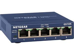 NETGEAR ProSAFE 5-Port Gigabit Ethernet Switch (GS105 v5) - Lifetime Warranty