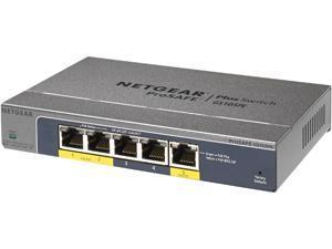 NETGEAR GS105PE-10000S 5 Port Gigabit Ethernet PD-Powered / PoE Pass-thru Smart Managed Plus Switch