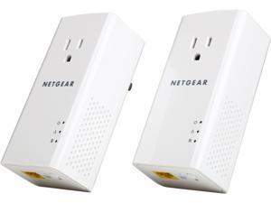 Netgear PLP1200-100PAS HomePlug AV2 MIMO AV1200 Powerline Gigabit Ethernet Adapter Kit with Pass-Thru, up to 1200Mbps