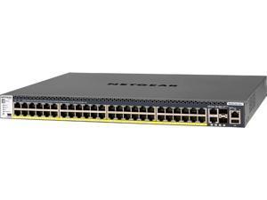 NETGEAR ProSAFE Intelligent Edge M4300-52G-PoE+ 550W Stackable 1G L3 Managed 52-Port Switch (GSM4352PA-100NES)