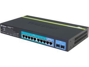 TRENDnet TPE-1020WS 10-Port Gigabit Web Smart PoE+ Switch. Limited Life Time Warranty