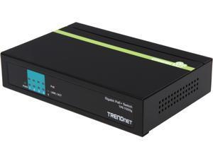 TRENDnet 5-port 10/100 Mbps PoE Switch (31W Power Budget) with Limited Lifetime warranty