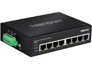 TRENDnet TI-E80 (v1.0R) Unmanaged 8-Port Industrial Fast Ethernet DIN-Rail Switch