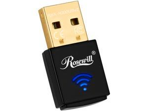 Rosewill N300 Wireless USB Wi-Fi Adapter, 300 Mbps Data Rate, USB 2.0