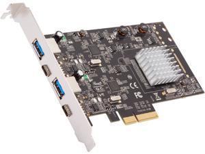 Rosewill RC-20002 10Gbps PCI Express 2.0 x4 (5.0 GT/s) 4 Ports PCI Express Expansion Card/Adapter