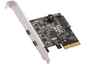 Rosewill RC-20003 PCIe 2 Ports (2 Type-C) USB 3.2 Gen 2 Host Adapter