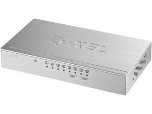 ZyXEL GS108Bv3 8 Port Gigabit Ethernet Switch with Metal Housing & Green Energy Saving Technology