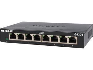 NETGEAR 8-Port Gigabit Ethernet Unmanaged Switch (GS308) - Home Network Hub, Office Ethernet Splitter, Plug-and-Play, Fanless Metal Housing, Desktop or Wall Mount