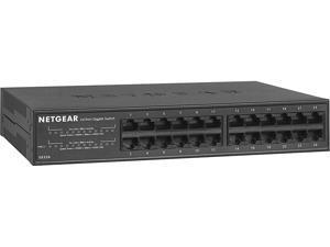 NETGEAR 24-port Gigabit Ethernet Unmanaged PoE+ Switch with 190W PoE Budget (GS324P)