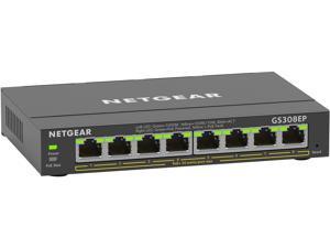 NETGEAR 8 Port PoE Gigabit Ethernet Plus Switch (GS308EP) - with 8 x PoE+ @ 62W, Desktop/Wall Mount
