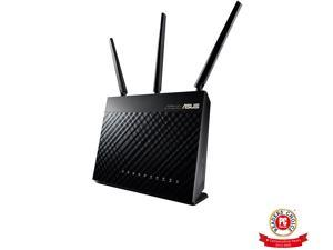 ASUS AC1900 Wi-Fi Dual-band 3x3 Gigabit Wireless Router with AiProtection Network Security Powered by Trend Micro, AiMesh Whole Home Wi-Fi System Compatible (RT-AC68U)