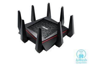 ASUS AC5300 Wi-Fi Tri-band Gigabit Wireless Router with 4x4 MU-MIMO, 4 x LAN Ports, AiProtection Network Security and WTFast Game Accelerator, AiMesh Whole Home Wi-Fi System Compatible (RT-AC5300)