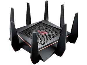 [CA VERSION] ASUS AC5300 Wi-Fi Tri-band Gigabit Wireless Router with 4x4 MU-MIMO, AiProtection Network Security and WTFast Game Accelerator, AiMesh Whole Home Wi-Fi System Compatible (GT-AC5300/CA)