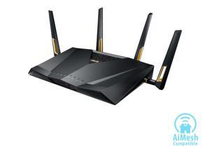 ASUS RT-AX88U AX6000 Dual-band Wi-Fi Router, AiProtection Lifetime Security by Trend Micro, AiMesh Compatible for Mesh Wi-Fi System, Next-Gen Wi-Fi 6, Wireless 802.11Ax, 8 x Gigabit LAN ports