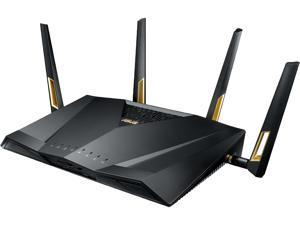 ASUS AX6000 Dual Band WiFi 6 (802.11ax) Router supporting MU-MIMO and OFDMA technology, with AiProtection Pro network security, built-in wtfastR game accelerator and Adaptive QoS (RT-AX88U/CA)