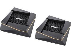 ASUS RT-AX92U (2 Pack) AX6100 Tri-Band Wi-Fi 6 Gaming Mesh Router with 802.11Ax, Lifetime AiProtection Security by Trend Micro, AiMesh Compatible, Adaptive QoS & Parental Control
