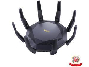 ASUS RT-AX89X AX6000 Dual Band WiFi 6 Router, 802.11ax 12 streams 6000Mbps , Lifetime Free Internet Security, supports AiMesh, MU-MIMO, 8 Gb LAN ports, Dual 10G ports (10GBase-T & 10G SFP+), VPN