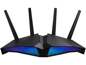 ASUS AX5400 Dual Band WiFi 6 Gaming Router, WiFi 6 802.11ax, Mobile Game Mode, ASUS AURA RGB, Mesh WiFi support, Gear Accelerator, Gaming Port, Adaptive QoS, Port Forwarding (RT-AX82U)