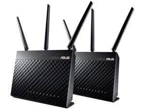 ASUS (RT-AC1900P 2 Pack) Dual-Band WiFi Router with ASUS Router App and AiProtection, Supporting AiMesh - Mesh Networking Whole Home Wi-Fi System