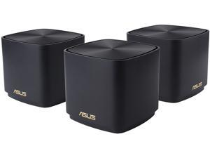 ASUS ZenWiFi AX Mini Whole Home Dual Band Mesh WiFi 6 System (XD4) - 3 Pack Charcoal, Coverage up to 4800 sq.ft & 25+ Devices, 1800Mbps, AiMesh, Parental Controls, Easy Setup