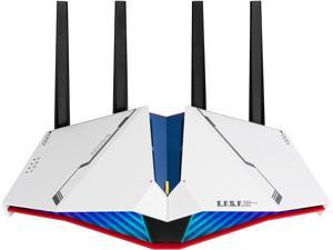 ASUS RT-AX82U AX5400 Dual-band WiFi 6 Gaming Router GUNDAM EDITION, Game Acceleration, Mesh WiFi Support, Lifetime Free Internet Security, Dedicated Gaming Port, Mobile Game Boost, MU-MIMO