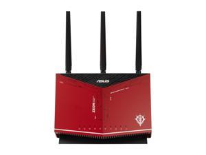 ASUS RT-AX86U AX5700 Dual Band + WiFi 6 Gaming Router ZAKU II EDITION, 802.11ax, up to 2500 sq ft & 35+ Devices, NVIDIA GeForce Now, Lifetime Free Internet Security, Mesh WiFi Support, 2.5G port