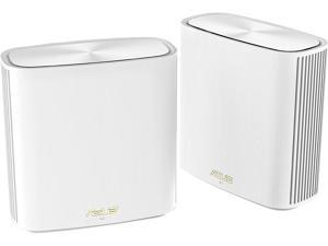 ASUS ZenWiFi Whole-Home Dual-Band Mesh WiFi 6 System XD6 White - 2 Pack, Coverage up to 5,400 sq.ft & 4+ Rooms, 5400Mbps, AiMesh, Lifetime Free Internet Security, Parental Control, Easy Setup