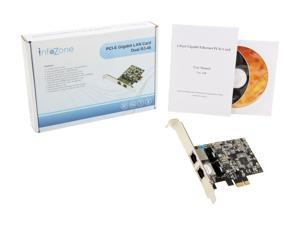 SYBA 2 Port Gigabit Ethernet PCI-e x1 Network Card - SY-PEX24028