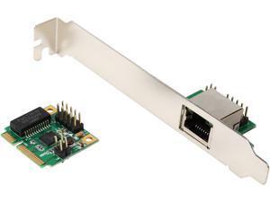SYBA SI-MPE24043 10/100/1000Mbps PCI-Express Single Port Gigabit Mini PCI-e Network Card 1-port RJ-45 1000Mbps 1000BASE-T