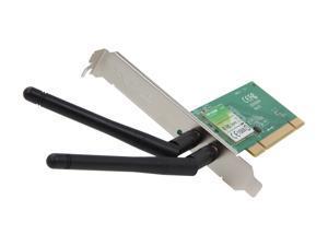 TP-LINK TL-WN851ND Wireless N300 PCI Adapter, 300Mbps, w/WPS Button, IEEE 802.1b/g/n, 64/128 bit WEP, WPA/WPA2