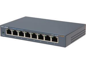 TP-LINK TL-SG108 Unmanaged 10/100/1000Mbps 8-Port Gigabit Desktop Switch, Metal Case, Power-Saving