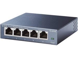 TP-Link 5 Port Gigabit Ethernet Network Switch - Ethernet Splitter | Plug & Play | Fanless | Sturdy Metal w/ Shielded Ports | Traffic Optimization | Unmanaged | Limited Lifetime Protection(TL-SG105)