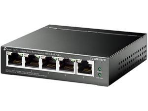 TP-Link 5 Port Gigabit PoE Switch | 4 PoE+ Port @65W | Easy Smart | Plug & Play | Limited Lifetime Protection | Shielded Ports | Support QoS, VLAN, IGMP and Link Aggregation (TL-SG105PE)
