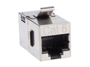 "Tripp Lite N235-001-SH Cat6 Straight-Through Shielded Modular In-line ""Snap-in"" Coupler (RJ45 F/F)"
