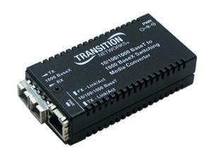 Transition Networks M/GE-PSW-SX-01-NA 10/100/1000Base-TX to 1000Base-SX Media Converter