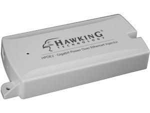 Hawking Technology Gigabit Power-Over-Ethernet (PoE) Injector Kit Max 54V/0.6A (HPOE2)