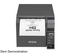 Epson TM-T70II Front-loading Single-station Thermal Printer, USB, Ethernet – mPOS, Dark Gray - C31CD38A9782