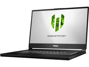 "MSI WS Series WS65 8SK-476 Mobile Workstation Intel Core i9 8th Gen 8950HK (2.90 GHz) 32 GB Memory 512 GB NVMe SSD NVIDIA Quadro P3200 15.6"" Windows 10 Pro 64-Bit"
