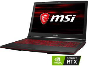 "MSI GL Series GL63 8SE-209 15.6"" 120 Hz Intel Core i5 8th Gen 8300H (2.30 GHz) NVIDIA GeForce RTX 2060 16 GB Memory 256 GB NVMe SSD Windows 10 Home 64-bit Gaming Laptop"