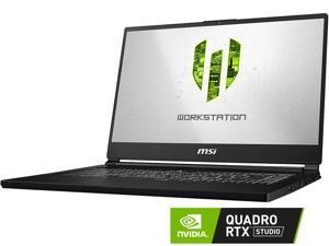 "MSI WS Series WS65 9TL-686 Mobile Workstation Intel Core i7 9th Gen 9750H (2.60 GHz) 32 GB Memory 512 GB NVMe SSD NVIDIA Quadro RTX 4000 15.6"" Windows 10 Pro 64-bit"