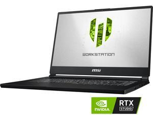"MSI WS Series WS65 9TM-857 Mobile Workstation Intel Core i7 9th Gen 9750H (2.60 GHz) 32 GB Memory 1 TB NVMe SSD NVIDIA Quadro RTX 5000 15.6"" 4K/UHD Windows 10 Pro 64-bit"