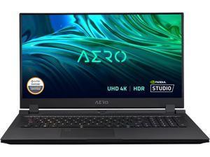 "GIGABYTE AERO 17 HDR YD - 17.3"" UHD 4K IPS Anti-Glare, Intel Core i9, NVIDIA GeForce RTX 3080 Laptop GPU 16GB GDDR6, 32GB RAM, 512GB SSD + 1TB SSD, Win10 Pro, Creator Laptop (AERO 17 HDR YD-94US548SP)"