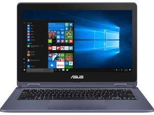 "ASUS VivoBook Flip Thin and Lightweight 2-in-1 HD 11.6"" HD Touchscreen Laptop, Intel Dual-Core Celeron N3350 Processor, 4 GB DDR3, 64 GB eMMC Storage, Windows 10 in S mode, Office 365 - J202NA-DH01T"