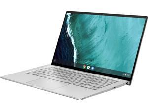"ASUS Chromebook Flip C434 2-in-1 Laptop 14"" Touchscreen Full HD 4-Way NanoEdge, Intel Core m3-8100Y Processor, 4 GB RAM, 64 GB eMMC Storage, All-Metal Body, Backlit KB, Silver, Chrome OS, C434TA-DSM4T"