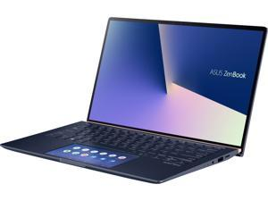 "ASUS Laptop ZenBook UX434FLC-XH77 Intel Core i7 10th Gen 10510U (1.80 GHz) 16 GB LPDDR3 Memory 512 GB SSD NVIDIA GeForce MX250 14.0"" Windows 10 Pro 64-bit"
