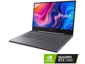 "ASUS ProArt StudioBook Pro 15 Mobile Workstation Laptop, 15.6"" UHD NanoEdge Bezel, Intel Core i7-9750H, 48 GB DDR4, 2 TB PCIe SSD, NVIDIA Quadro RTX 5000, Windows 10 Pro, W500G5T-XS77, Star Grey"